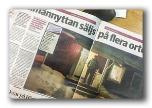 Från Tidningen Härjedalen, om att Härjegårdar vill sälja stora delar av allmännyttan.