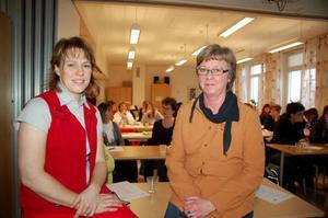 Susanne Rehn Svensson från Ljusnanhälsan och Inger Wetterstrand, rehabsamordnare på Härjedalens kommun.