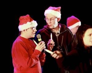 Ballader och rock blandades med klassiska julsånger.