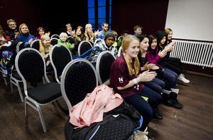 Galaxen från Andersbergsskolan hade stort publikstöd.