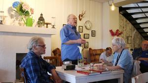 Jan Myrdal berättade om sin senaste bok.