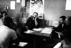 Ricky Bruch diskus, t.h. Coje Larsson reporter VLT.