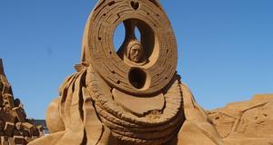 En av skulpturerna.