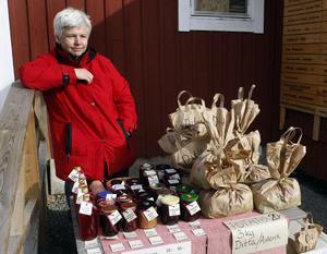 Gertrud Schön sålde hemlagad sylt och marmelad.