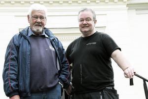 Jonas Frost och Anders Persson har samarbetat tidigare. Det var när kyrkan i Voxnabruk renoverades. De är båda nöjda med arbetet och resultatet i Ovanåkers kyrka.