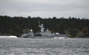 Bild från 2014 på  Kustkorvetten HMS Stockholm. Idag är hon patrullfartyget HMS Stockholm. Ett av flera exempel på ett försvar i otakt.