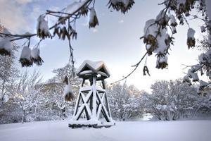 Än står klockstapeln i vintrig ensamhet, men snart kommer allt folket för att fira nyår i Rådhusparken.