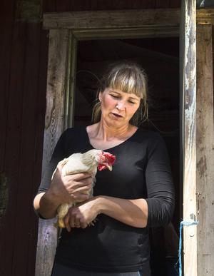 Agda Englund är en av 115 höns som Emma räddade från att gasas ihjäl.