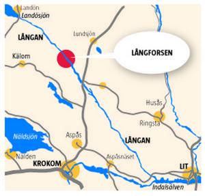 Långforsens kraftverk ligger i Krokoms kommun, nära Kälom.