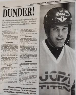 Ljusdals-Posten i oktober 1995.