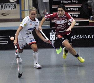 Sara Kristoffersson på språng mot Huddinge.