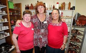 Annika Gustafson, Inga Aléx och Eva Jansson har det gemensamt att de varit arbetslösa länge men gläds åt möjlighet som de fått via Fas-3 att få ett jobb.FOTO: MIKAEL ERIKSSON