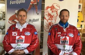 Assisterande tränaren Mattias Andersson och huvudtränaren Tommy Andersson är duon som ska leda Kalix kommande säsong.
