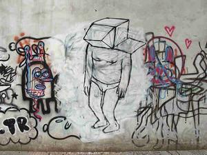 """""""Muto"""". Väggmålning som animerad film av gatukonstnären Blu från italienska Bologna. Gjord under 2007 och 2008 i Buenos Aires och Baden."""