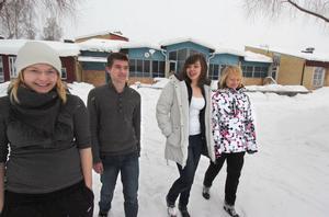 Sara Akander, Moa Qvarford, Mikael Eriksson och Emma Lindberg går alla på Granbergsskolan.