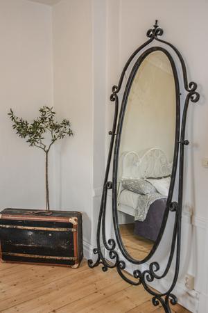 Snirklig spegel.