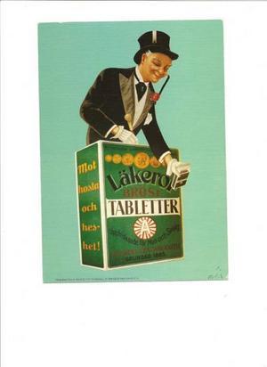 Läkerolius kallades den här gubben.Han var med i många annonser på sin tid.