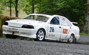 Håkan Holmkvist knep brons i Klass 2, Rallycross 2400 cc.
