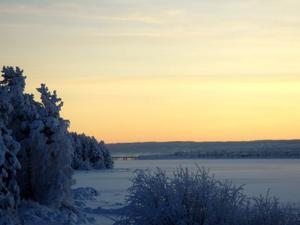 Ett vintrigt Östersund. Foto: Annika Karlsson