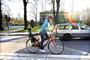Sara Nilsson har cyklat från Valbo till Sätra nästan varje dag under tiden som projektet Vintercyklisten pågått, en av cirka 40 personer i Gävle och Sandviken som valt att byta bilen mot cykeln under några vintermånader i år.