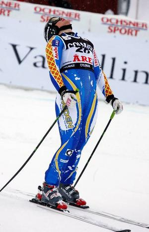 Anja Pärson hade hoppats på mer men det slutade med en 16:e plats.Foto: Denny Calvo