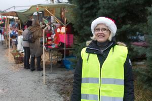 Helen Fahlin, ordförande i Åvestbo byalag, tycker att marknaden blev över förväntan.