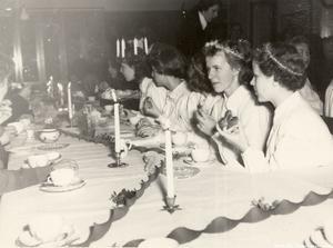 Lucia på flickläroverket 1954.