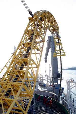 58 kilometer. ABB i Karlskrona är nöjda med kabelkontraktet i Danmark som passar bra in i fabriken när HVDC-projektet Norned slutförs.