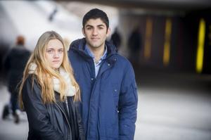 Lina Nilsson Berglund och Muhanned Khalaf har sett fram emot resan hela gymnasiet – men blev tvingad att stanna hemma.