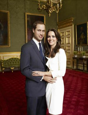 Brudparet. Prins William och Kate Middleton.
