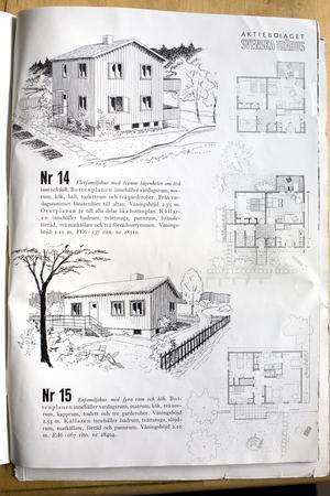 En villa nummer 15 i katalogen från Svenska Trähus som kan vara identisk med den villa som levererades till Stockholm 1946 och kostade 4055,60 kronor.