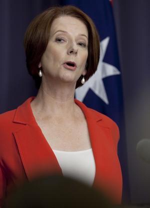 Drar sig ur. Australiens premiärminister Julia Gillard drar hem trupperna snabbare än planerat från Afghanistan.foto: scanpix