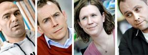 Lärarna Henrik Moradi, Erik Ängshagen, Therese Flemström och Patrik Ekelöf.
