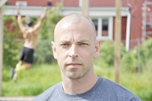 Magnus Eklöf kör banan en gång i veckan.