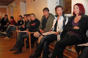Maria Brolin, Pernilla Karlsson och Anna Engblom Yamdee tilhrö föräldragruppen i Lingbo.