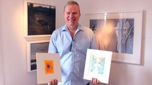 Litografen Mats Westman är asnvarig för utställningen.