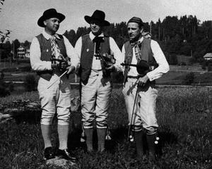 Werner, Evert och Gösta Wernberg som de porträtterades i tv-filmen