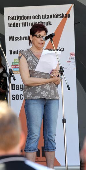 Birgitta Ågren delade med sig av sina egna erfarenheter som utförsäkrad.