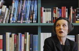 Rumänsk-tyska författaren Herta Müller, vid ett besök på svenska ambassaden i Berlin 2009.