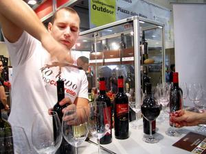 Italienska viner för provsmakning.