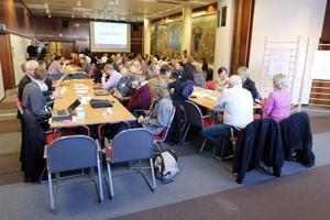 Ungefär 120 personer var med i workshopen för att diskutera hur Östersund ska få en hållbar tillväxt.