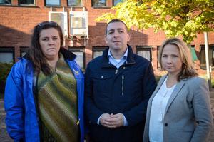 Anna Eling, Roger Haddad och Monica Lundin från Liberalerna hade ett möte om hedersförtryck med polisen, kvinnojouren och socialtjänsten.