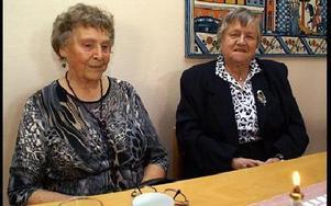 Siv Bergman och Karin Lidström, två av veteranerna i s-kvinnorna i Avesta.FOTO. OVE ANDERSSON
