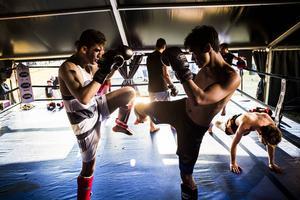 Thaifestivalen bjöd på thaiboxningen när den för första gången arrangerades i hamnen i fjol.