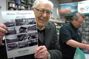 Eje Wåhlstedt, 87 år, är mannen bakom en del av bilderna i Bollnäs nostalgikalender.