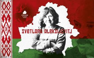 Nobelpriset i litteratur gör det svårare för president Alexandr Lukasjenkos regim att tiga ihjäl henne och hennes författarskap.   Grafik: Mikael Andersson