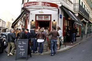 Tapasbaren Le Comptoir du Foie Gras i Biarritz.   Foto: Annika Goldhammer