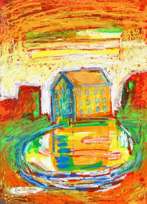 """""""Huset"""". Av Esa Toivonen, före detta elev på Gävle Konstskola."""