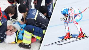 Olivier Jenot från Monaco nackstabiliserades och fördes iväg med helikopter under onsdagen.