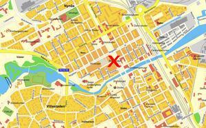 Händelsen utspelade sig i korsningen Norra Kungsgatan-Drottninggatan i centrala Gävle.
